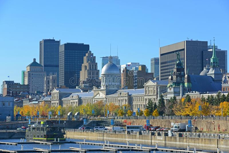Bonsecours Market, Old Montreal, Quebec, Canada. Bonsecours Market Marché Bonsecours is a Renaissance Revival style building built in 1844 in Old town royalty free stock images