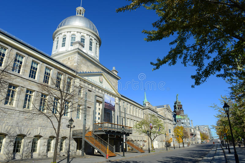 Bonsecours Market, Old Montreal, Quebec, Canada. Bonsecours Market (Marché Bonsecours) is a Renaissance Revival style building built in 1844 in Old town stock images