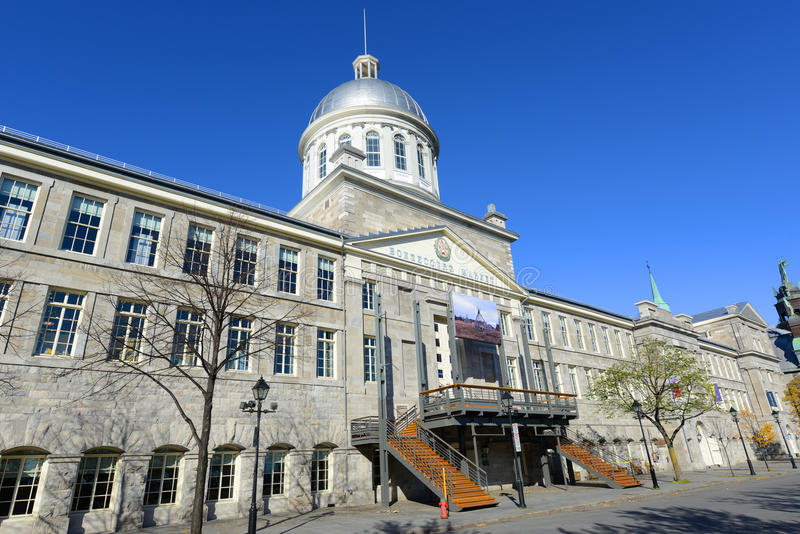 Bonsecours Market, Old Montreal, Quebec, Canada. Bonsecours Market (Marché Bonsecours) is a Renaissance Revival style building built in 1844 in Old town royalty free stock photo