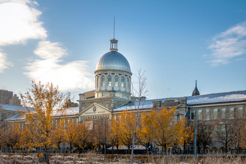 Bonsecours marknad i gamla Montreal - Montreal, Quebec, Kanada arkivfoton