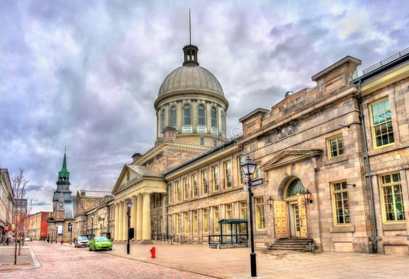 Bonsecoursmarkt in oud Montreal, Canada Gebouwd in 1860 stock foto