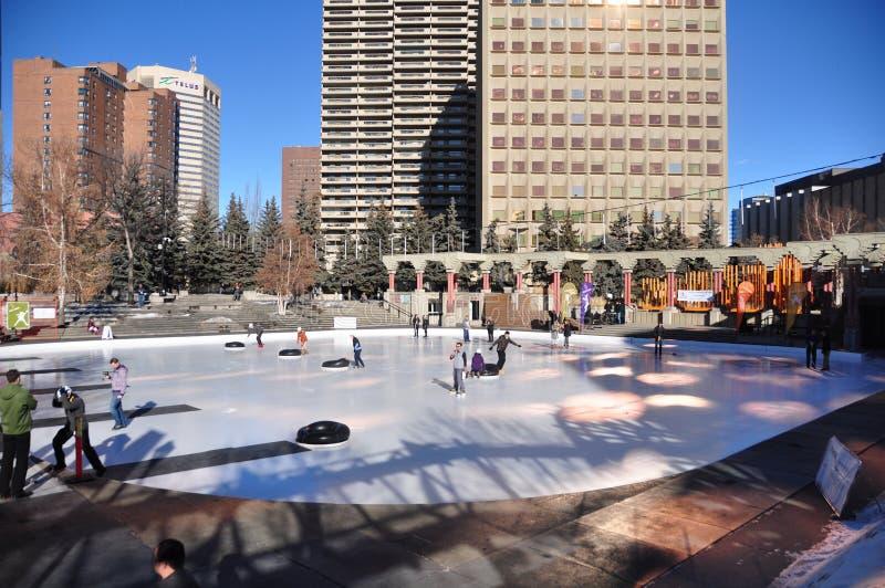Bonspiel humano, Calgary fotografía de archivo