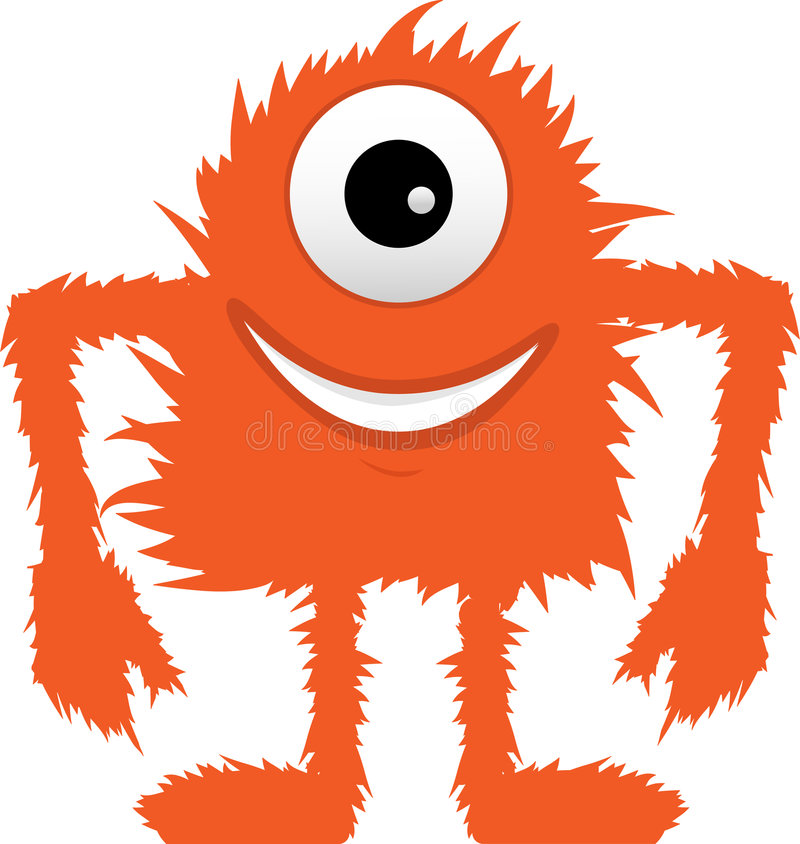 Bont Verwarde Oranje Eyed Monster vector illustratie
