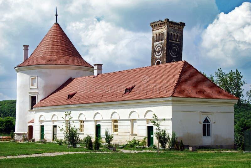 从Bontida城堡的老大厦 图库摄影
