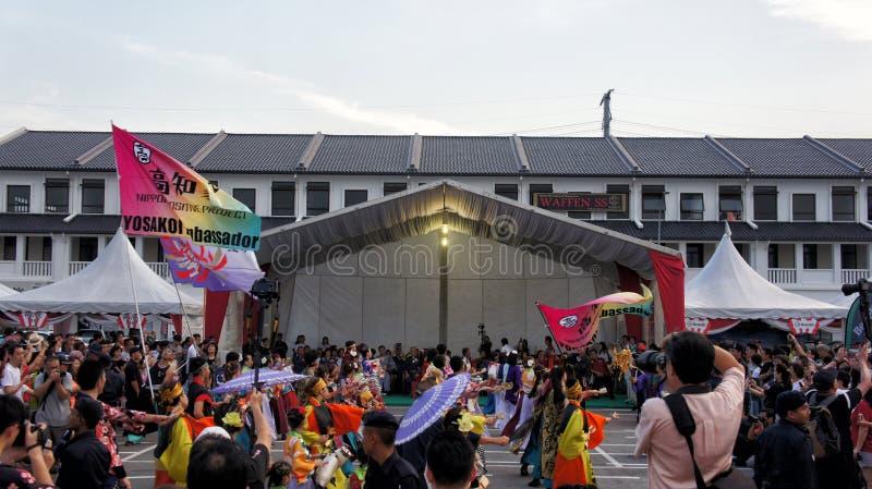 Bonu Odori festiwal 2019 przy Iskandar Puteri Johor, Malezja zdjęcie royalty free