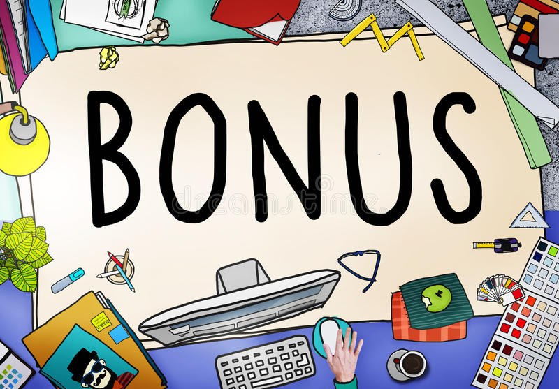 Bonus Benefit Income Incentive Profit Concept stock illustration