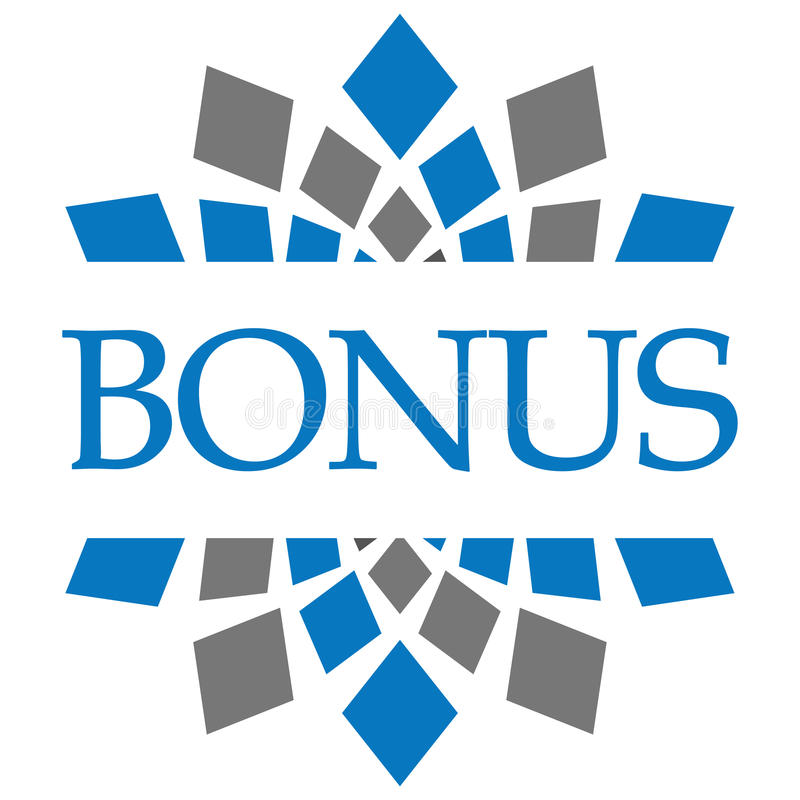 Bonus Blauw Grey Circular Background stock illustratie