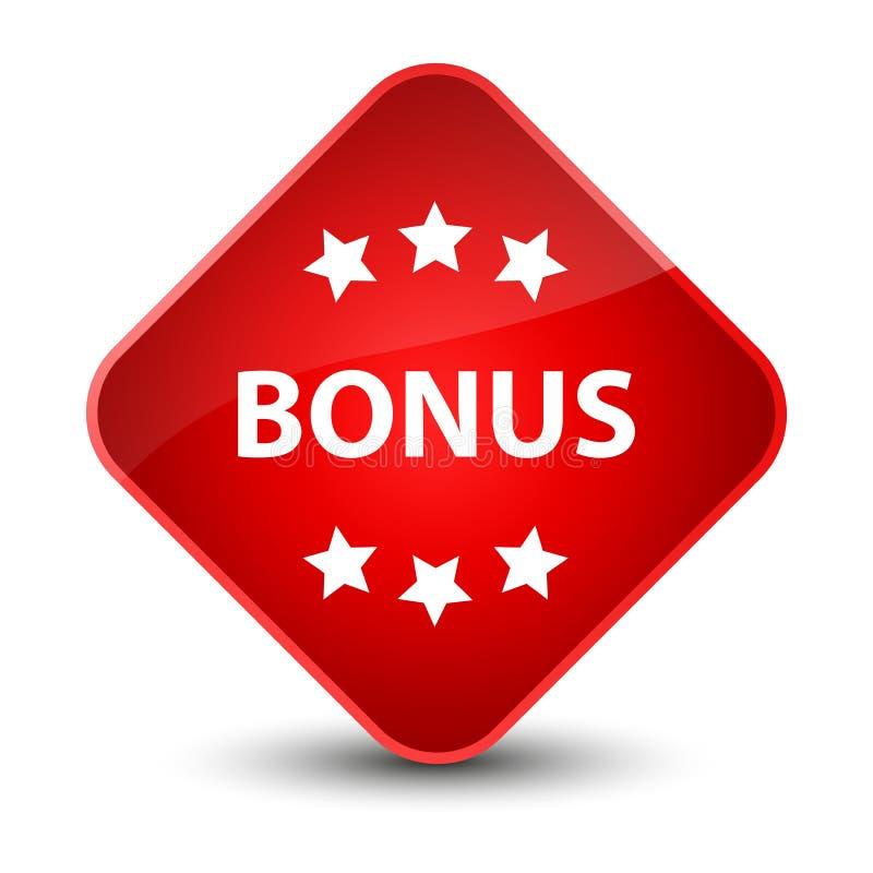 Bonus icon elegant red diamond button. Bonus icon isolated on elegant red diamond button abstract illustration vector illustration