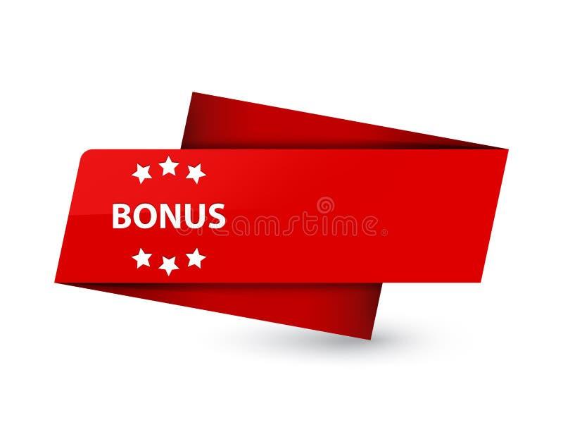 Bonus icon premium red tag sign royalty free illustration
