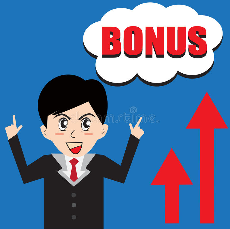 Download BONUS Man Business stock vector. Image of high, good - 43290324
