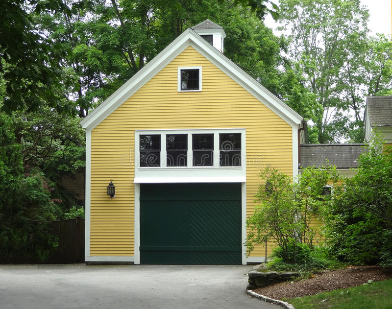 A Bonus Room Addition Above a Garage. Exterior of a Bonus Room Addition Above a Garage royalty free stock image