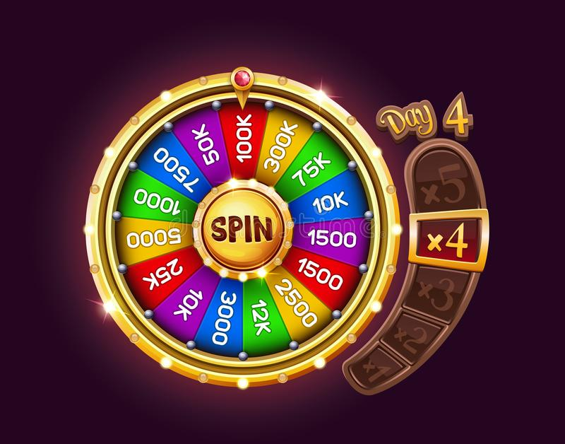 Bonus wheel of luck vector illustration