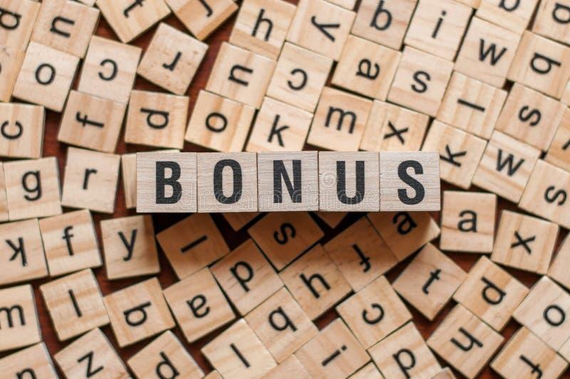 Bonus word concept royalty free stock images
