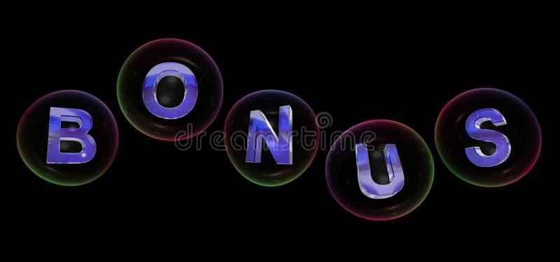 The bonus word in bubble vector illustration