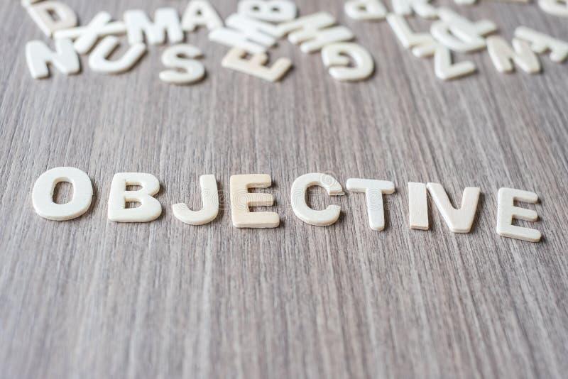 BONUS word of wooden alphabet letters. Business and Idea. OBJECTIVE word of wooden alphabet letters. Business and Idea concept royalty free stock image