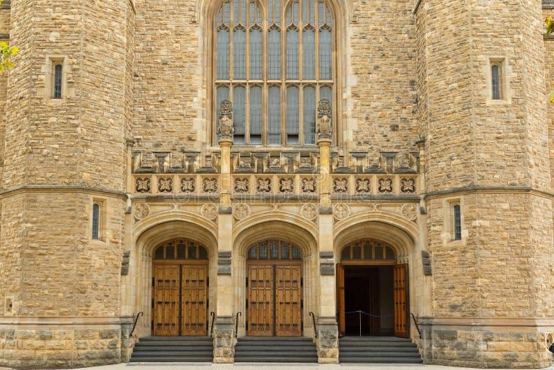 Bonython Hall av universitetet av Adelaide, partisk sikt, i annons royaltyfri foto