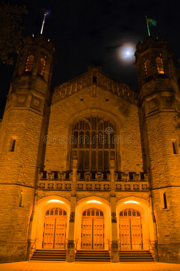 Bonython Hall and the Moon (front) royalty free stock images
