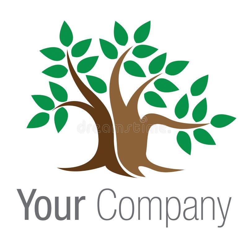 Bonzaies verts d'arbre de logo illustration de vecteur