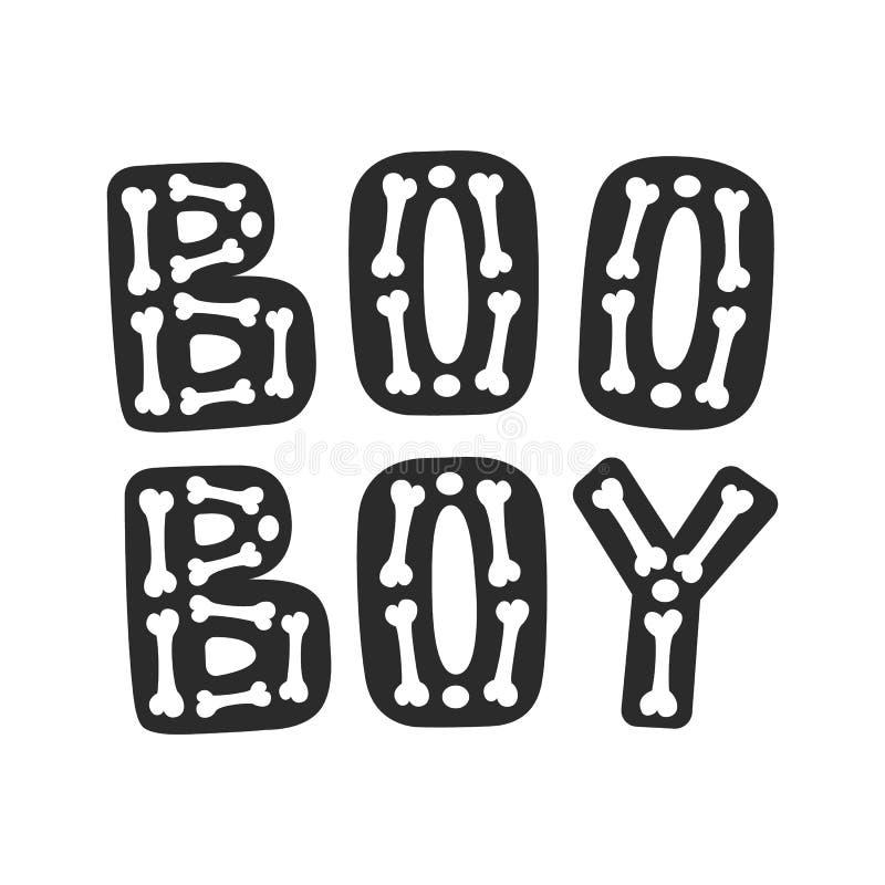 Boo Boy Rotulação de Dia das Bruxas ilustração royalty free