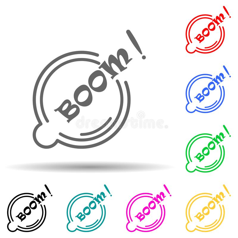 Boo bubble Halloween multi color style icon 简单的细线、ui和ux、网站或移动的万圣节图标的轮廓 皇族释放例证