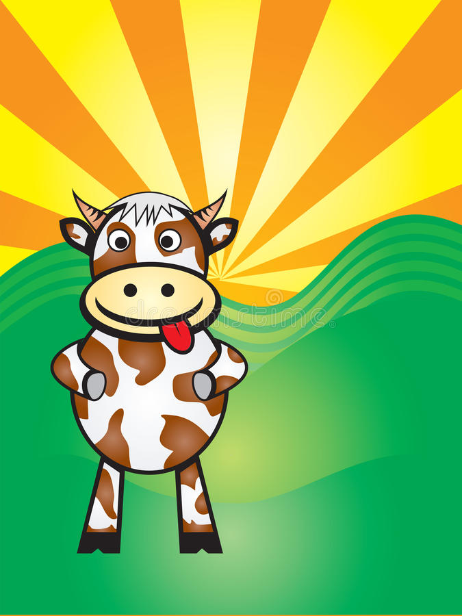 Download Boo cow stock vector. Illustration of nature, creatures - 14080864
