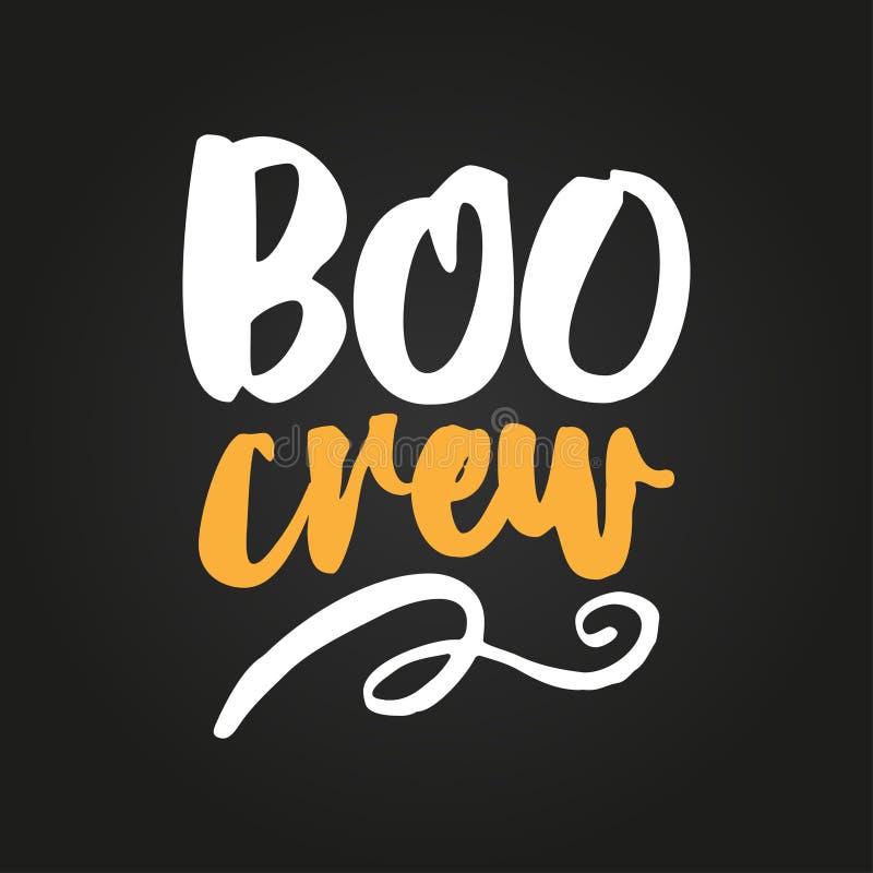 Boo Crew - les recouvrements de Halloween, marquant avec des lettres des labels conçoivent illustration stock