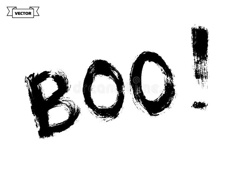 boo Elemento do projeto para Dia das Bruxas ilustração do vetor