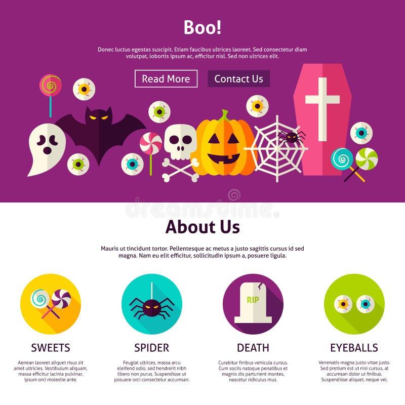 Boo Web Design Template ilustração stock