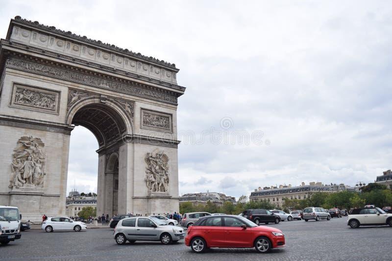 Boog DE triomphe, Parijs royalty-vrije stock afbeelding