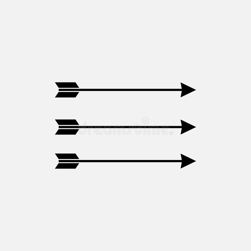 Boog en Pijlen Vlakke Vectorpictogrammen vector illustratie