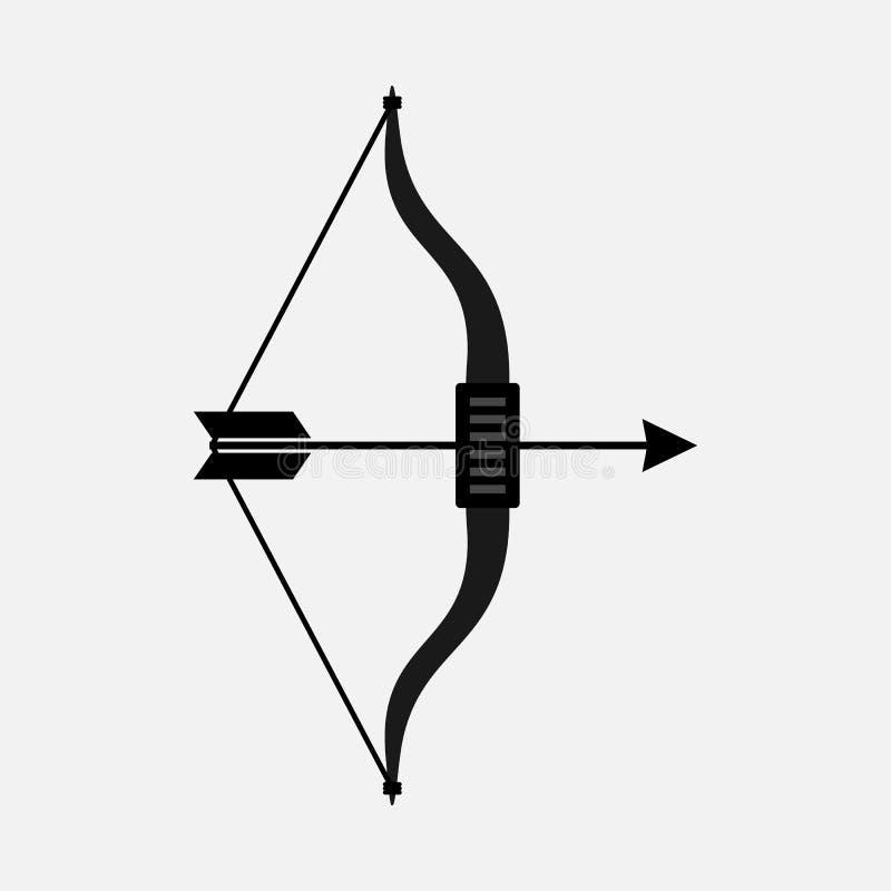 Boog en Pijlen Vlakke Vectorpictogrammen royalty-vrije illustratie