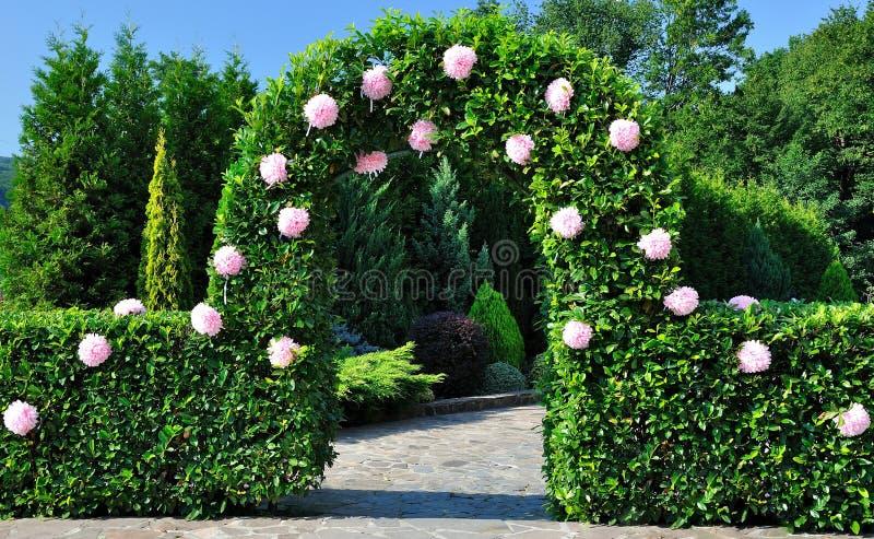 Boog met bloemen royalty-vrije stock afbeelding
