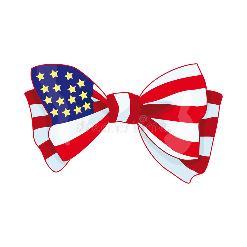 Boog met de vlag van de V.S. vector illustratie