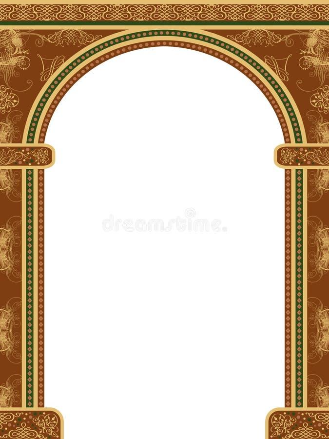 Boog met ornamenten stock illustratie