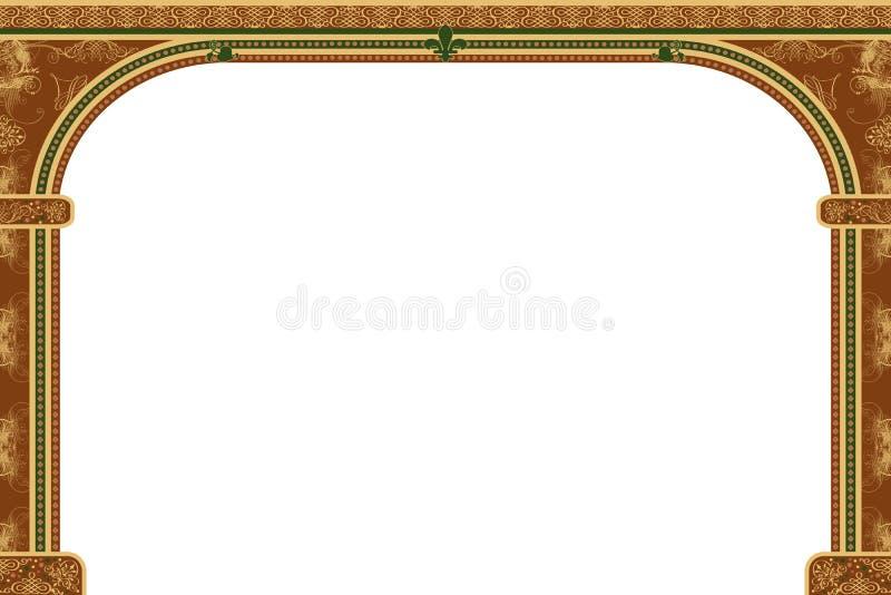 Boog met ornamenten vector illustratie