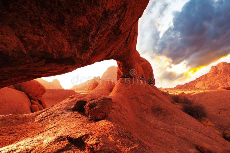 Boog in Namibië royalty-vrije stock afbeeldingen