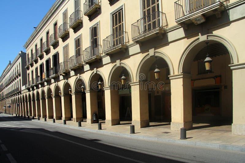 Boog van d'Emporda van La Bisbal, Girona Provincie stock afbeelding
