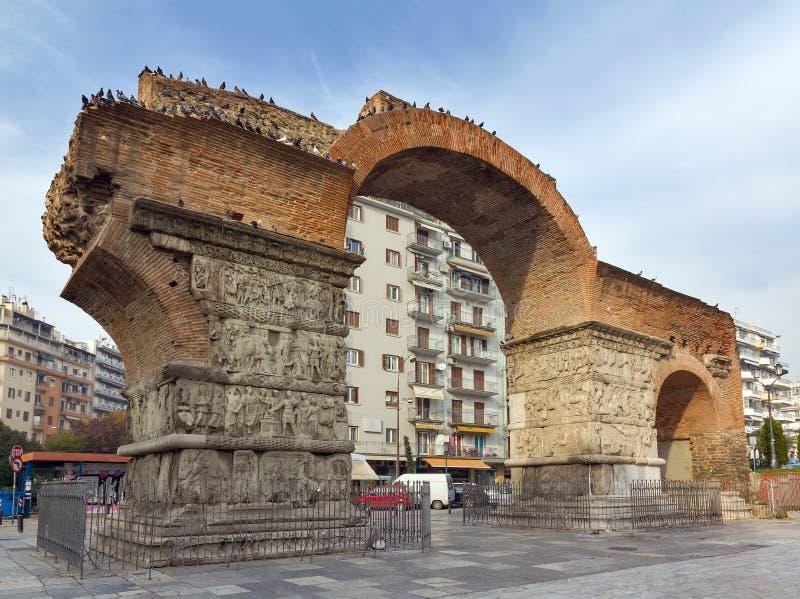 Boog van Galerius, Thessaloniki, Griekenland stock fotografie