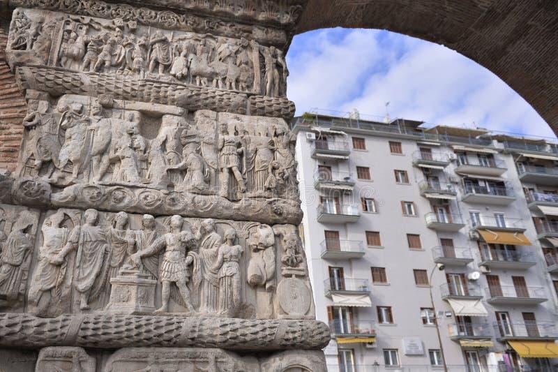 Boog van Galerius, Thessaloniki, Griekenland - detail royalty-vrije stock foto's