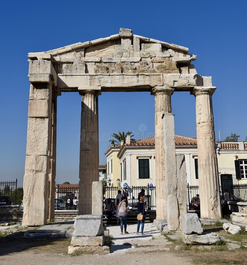 Boog van Hadrian stock fotografie