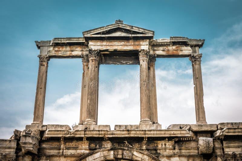 Boog van Hadrian in Athene, Griekenland royalty-vrije stock afbeeldingen