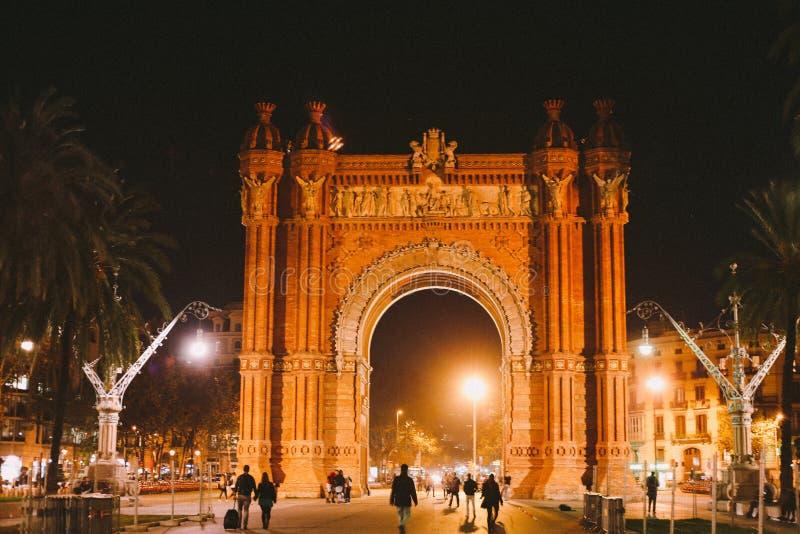 Boog van Triomf, Barcelona royalty-vrije stock afbeelding