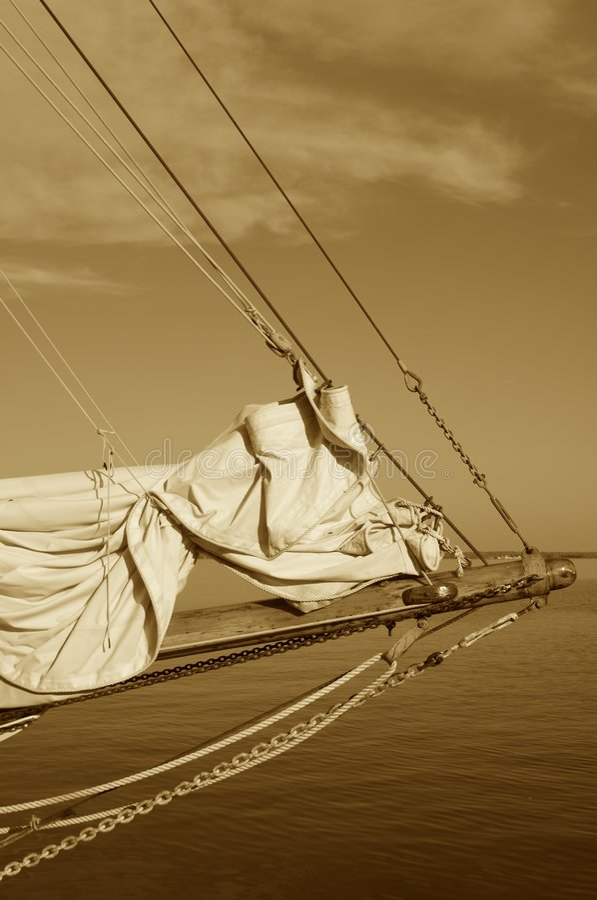 Boog van Uitstekend Varend Schip royalty-vrije stock foto's