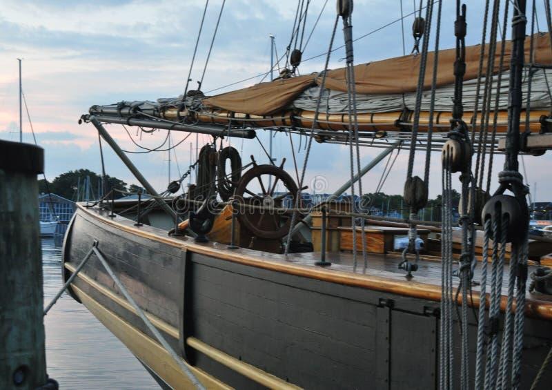 Boog van Zeilboot royalty-vrije stock fotografie