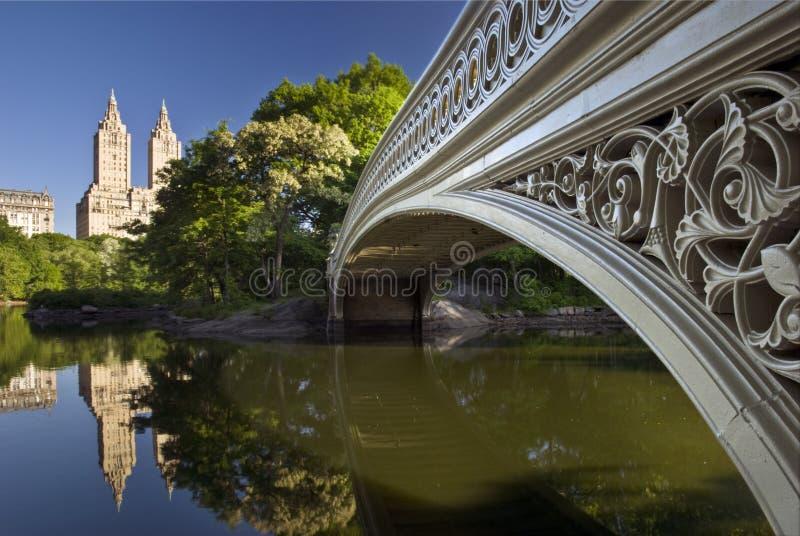Boogbrug in Central Park, New York stock fotografie