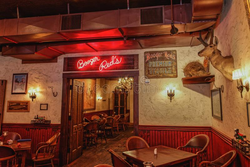 Booger Reds Saloon in the Stockyard District stock photography