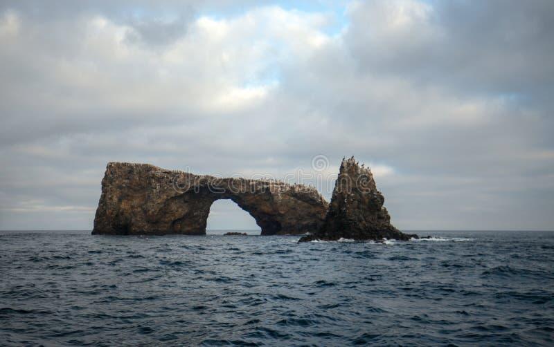 Boogrots van Anacapa-Eiland van het Nationale Park van Kanaaleilanden van de gouden kust van Californië Verenigde Staten stock foto's