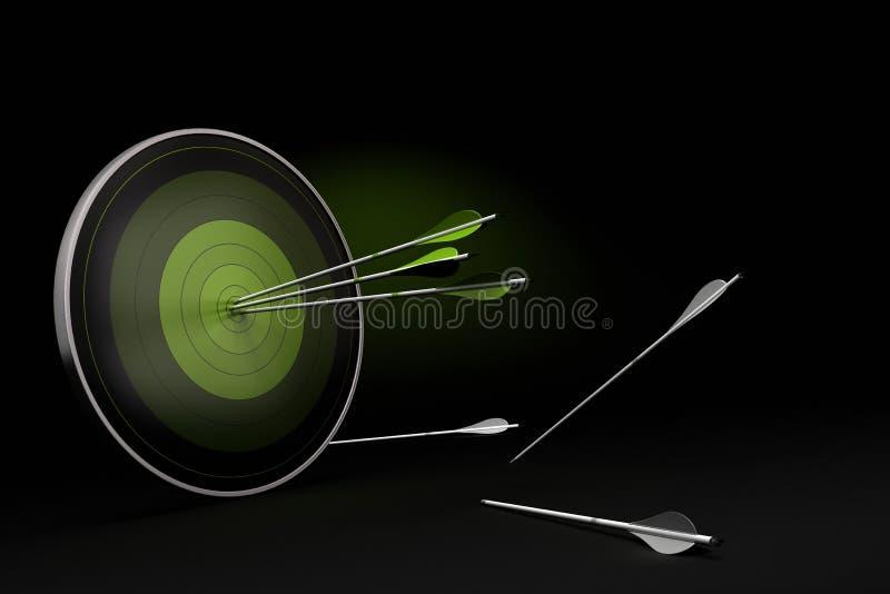 Boogschieten - bedrijfskansachtergrond vector illustratie