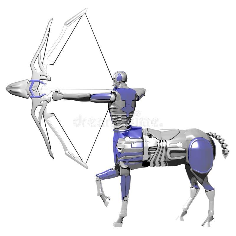 Boogschutterrobot stock afbeelding