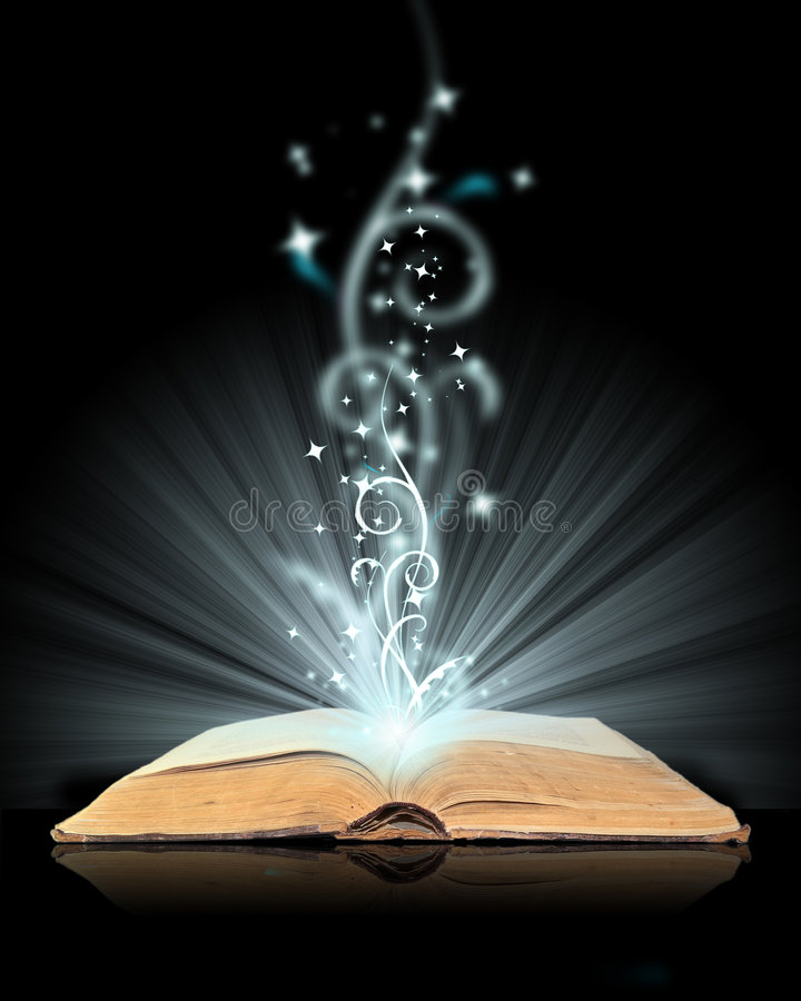 book öppen magi royaltyfria foton